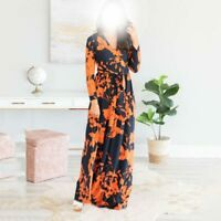 Ladies Party Long Maxi Womens Long Sleeve Loose Casual V Neck Dresses Dress