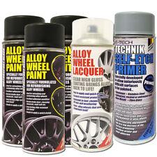 3x Motorsport Black E-Tech Alloy Wheel Paint 400ml + Self Etch Primer + Lacquer