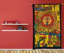 Ethnic Sun Tapestry Hippy Table Cloth Wall Hanging Decor Indian Art Bed Sheet