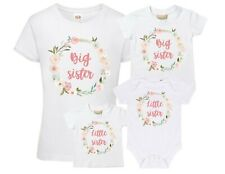 Wreath Big & Little Sister T-Shirts & Bodysuits - Reveal Party Girls Toddlers