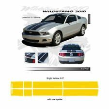 Ford Mustang 2010-2012 Wildstang Dual Stripe Graphic Kit - Bright Yellow