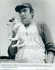 1970 Actor Anthony Quinn With Dog in Flap Press Photo