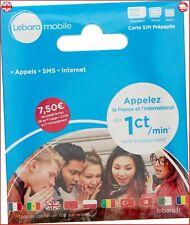 Lebara - SIM Card - French Number Incl EUR 7,50 call credit International Sim Ca