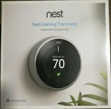 NEW Nest Learning Programmable Thermostat - Stainless Steel (T3007ES)