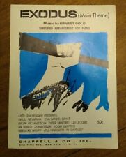 """VINTAGE 1960 Sheet Music """"The Exodus Song"""" Ernest Gold Pat Boone - Piano"""