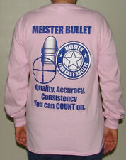 Meister Bullet logo unisex T-shirt Pink Long sleeve ( MEDIUM )