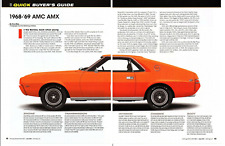 1968-1969 AMC AMX  ~  NICE 5-PAGE BUYERS GUIDE ARTICLE / AD