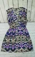 Charlie Jade Purple Black Brown Sleeveless Dress Women's Size S