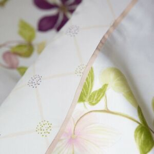 New Yves Delorme Paris Clematis Amethyst Violet Flower Queen Duvet Rare