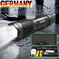 Polizei 8000LM Taktisch T6 LED Taschen-lampe Fokus Zoom Flashlight Batterie DE01