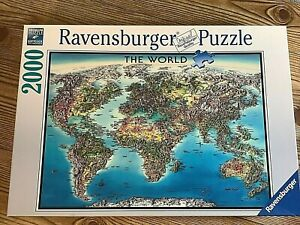 Ravensburger jigsaw puzzle The World map 2000 pieces 166831