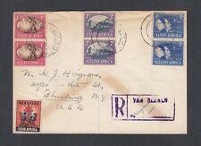 South Africa 1945 Registered Cover Van Reenen Natal To Flushing New York