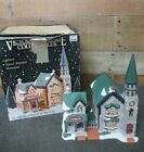 """Victorian Village Christmas Village """"St Mark's Church & Rectory"""" with Light"""