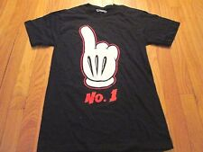 NEW DISNEY MICKEY MOUSE #1 FINGER T-SHIRT SIZE S