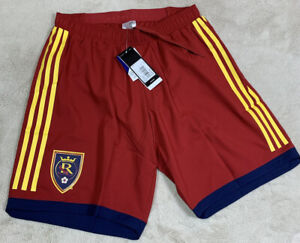 NWT'S Authentic Adidas MLS Real Salt Lake On-Field Soccer Shorts Men's SZ M Rare