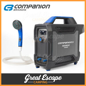 Companion AquaHeat Lithium Gas Hot Water Shower System - Camping Shower