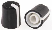 Sifam Potentiometer Knob 11mm Knob Diameter Black D Shaped Shaft Type 4mm