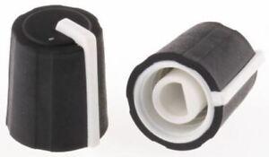 Pack 5 Sifam Potentiometer Knob 11mm Knob Diameter Black D Shaped Shaft Type 4mm