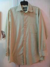 Claiborne - T-weave Subtle Checked Pattern Dress Shirt - Size L (16) Long Sleeve