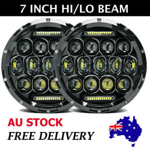 """Pair DOT 7"""" LED Headlight High-Low Signal DRL Lamp For Hummer H1 H2 H3 H4-H13 AU"""