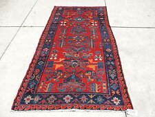 4x8ft. Vintage Persian Malayer Hamedan Wool Rug