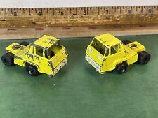 Vintage Tootsietoy Semi Truck Cab Lot Of 2 No. 1 & 2 Yellow Diecast USA