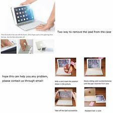 7Colors LED Backlight Aluminum CASE COVER Bluetooth Keyboard for ipad air2