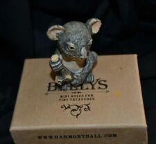 """Vintage Harmony Ball Pot Bellys """"Fuzzy"""" Koala Bear Mini Figurine Box- #Pbzko Nib"""