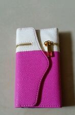 White and pink wallet iphone 5 cover