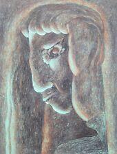 Jürgen Rosteck 1946-2011 Bremen / Zeichnung surreal-mythische Gestalt / 1991