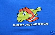 Embrace T-shirt  emo punk Surf Skate board fish pet