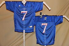 KANSAS JAYHAWKS   #7  Football Jersey  ADIDAS   Youth XL    NWT