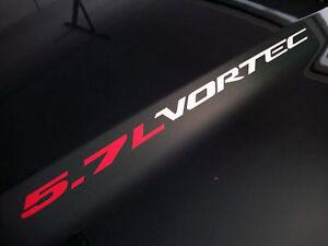 5.7L VORTEC (2) Hood sticker decals emblem Chevy Silverado GMC Sierra Tahoe