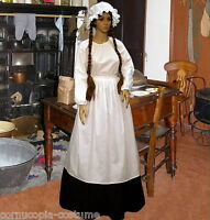 Ladies  Victorian  cook or Pioneer 4pc costume fancy dress UK sizes 6-20