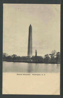 1900s NATIONAL MONUMENT WASHINGTON DC UNDIVIDED BACK UDB POSTCARD