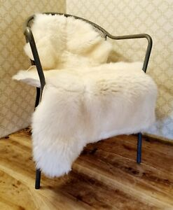 XXXL British Cream Sheepskin Rug - 115cm by 70cm A+ (4144)