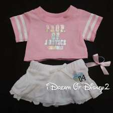 """Build-A-Bear """"PROP OF JUSTICE"""" PINK TOP & WHITE SKIRT SET Teddy Clothes Outfit"""