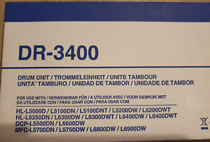 BROTHER DR-3400 Tambour d'origine neuf (50000 pages)