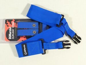 DiMarzio DD2200 Cliplock Nylon Quick Release Straps in BLUE