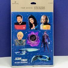 Star Trek Next Generation stickers Hallmark sealed 1992 riker worf borg planet 2