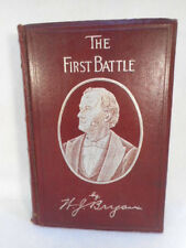 1896 The First Battle by William J Bryan Leather Bound