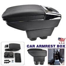 Center Console Armrest Storage Box Black For Nissan Versa Tiida 2007 2011 Fits Nissan