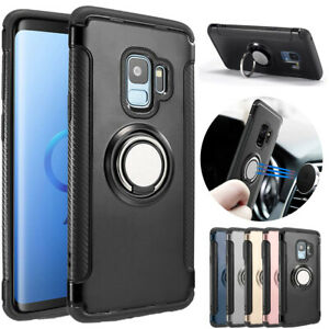 Magnetic Ring Holder Stand Case Shockproof Cover For Samsung S8 S9 S7 Edge J5 J3