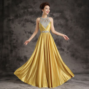 Long Chiffon Bridesmaid Formal Gown Ball Party Cocktail Evening Prom Dress Women