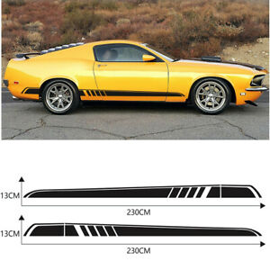 1 Pair Car SUV Sides Skirt Vinyl Stickers Long Strip Styling Decal Decoration