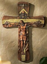 HOLY TRINITY CRUCIFIX Wall Cross  ~  NEW!