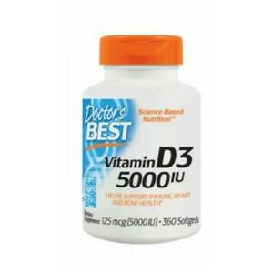Vitamin D3 360 Softgels 5000 IU by Doctors Best
