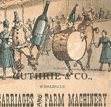 LINCOLN NE TRADE CARD, GUTHRIE,CO CARRIAGES, FARM, COSTUMES IN ROLLER RINK  Z694