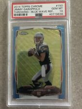 Jimmy Garoppolo 2014 Topps Chrome Blue Wave Refractor RC