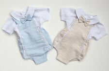 Baby Boys Pex 100% Cotton Spanish Romper Bow Tie Christening Wedding 3-12M